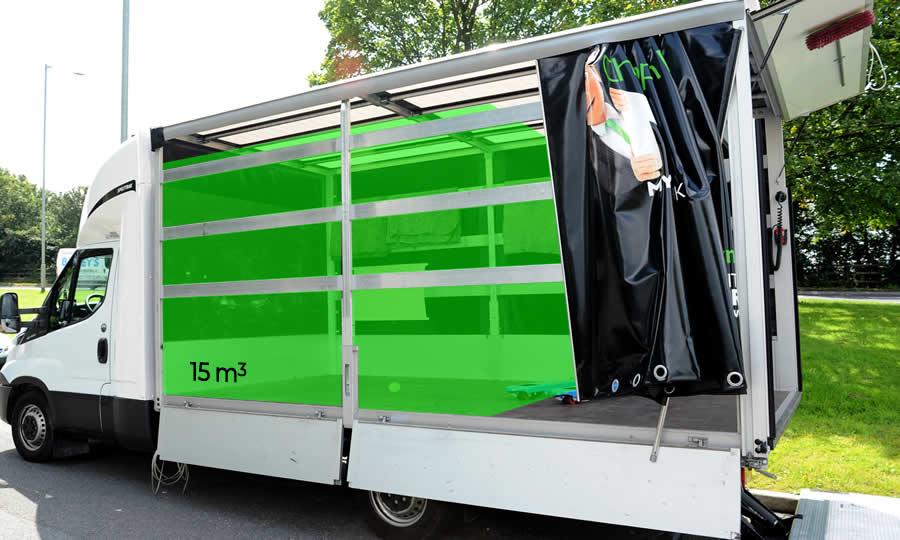 15 cubic meters in Luton Van